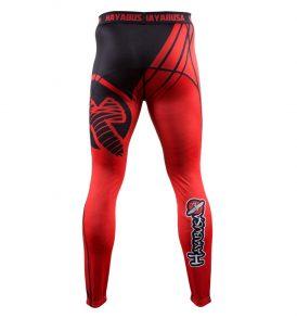 recast-compression-pants-red-black-back