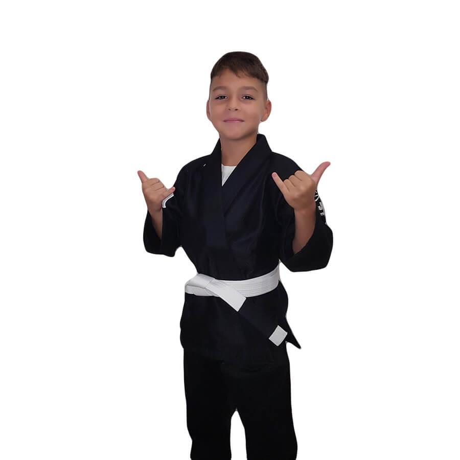 Fuji Saisho BJJ Kids Black Gi (White belt included)
